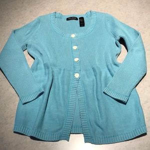 Turquoise Axcess open-bottom cardigan Sz M